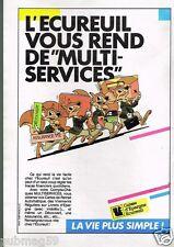 Publicité advertising 1986 Banque caisse d'Epargne Ecureuil