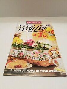 Longaberger WISH LIST MARCH 1ST, 1995- SPRING WISH LIST CATALOGUE-FREE SHIPPING