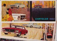 1963 CHRYSLER US Range Brochure NEWPORT 300 NEW YORKER