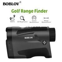 BOBLOV LF600G 6x22 Golf Hunting Rangefinder With Flag-Lock USB Charging 650Yard