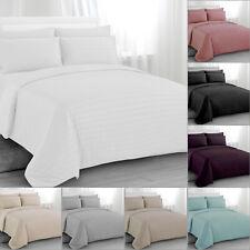 Satin Striped Duvet Quilt Cover  Pillowcase/s Bedding Bed Linen Set Double