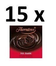 Nouvelle annonce 15 x Thorntons 70% Chocolat Foncé Bloc 90 g Full Case BBE 31/08/20 Bargain
