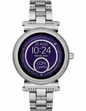 MICHAEL KORS ACCESS Women's Sofie Silver Tone Steel Smart Watch MKT5036 NEW