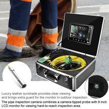 """9""""LCD 1000 linee TVL 22mm di tubo di cemento, ispezione fognaria Video Camera System 30M Cavo"""