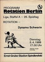 DDR-Liga 87/88 Rotation Berlin - Dynamo Schwerin, 05.04.1988