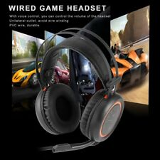 Wired Gaming Headphones USB 7.1 Surround Sound Headset with Mic for Computer EP