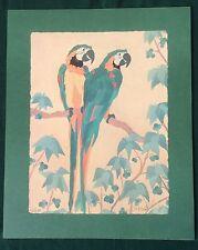 PARROTS Dan Goad, Original Lithograph, Pair Of Macaw Parrots, Signed / No.