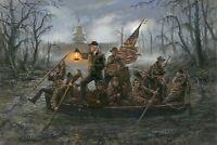 Trump crossing the swamp SIGN 4x6 magnet Fridge Toolbox American POLITICS HILL
