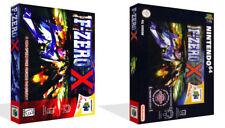 F Zero X Nintendo 64 N64 de Rechange Jeu Boîtier + Housse Art (sans Jeu)
