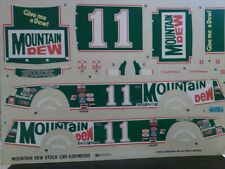 Darrell Waltrip Mountain Dew Buick Decals 1/24 Scale Monogram