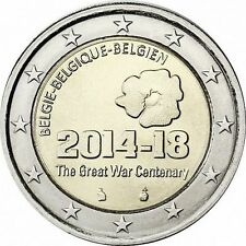 "Belgium 2 euro coin 2014 ""The Great War Centenary"" UNC"
