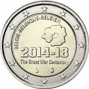 "Belgium 2 euro coin 2014 ""The Great War Centenary"" UNC"