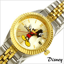 Disney Mickey Mouse Women's MCK340 Classic Moving Hands Two-Tone Bracelet Watch