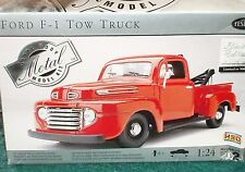 TESTOR's 1940ish FORD F1 TOW TRUCK MODEL KIT 1/24 SKILL 2 OPEN BOX SEALED PARTS