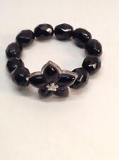 925 Stretch  Black Beaded Bracelet