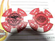 Harley Red & White Poker Chip Hometown Harley Davidson Winterville, NC *NA*