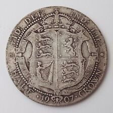 Dated : 1907 - Silver Coin - Half Crown - King Edward VII - Great Britain UK