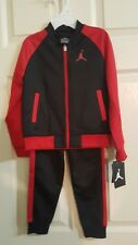 Air Jordan Boy 2 Piece Jogging Set ~ Black & Red ~ Jumpman ~ Tracksuit Size 4