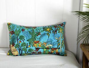 Frida Kahlo Kantha Oreiller Taie Indien Vintage Canapé Lit Coussin 50.8x30.5cm