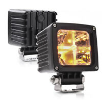 "MICTUNING 2x LED Pods 3.4"" 4000LM Amber Marker Light Spot LED Cube Offroad Light"