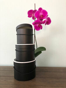 Premium Quality Round Flower Box, Floral Gift Box, Set of 3 pcs, with Lids