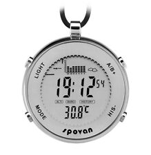 SPOVAN Men's Sports Pocket Watch Fishing Remind EL Backlight Alarm Stopwatch