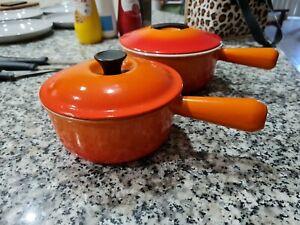 Le Creuset Enameled Saucepan 16cm, Very Good Condition