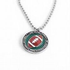 "Football Necklace, ""I can do all things through Christ who strengthens me"""