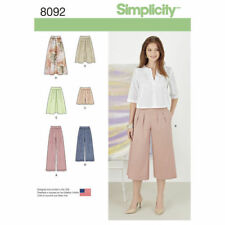 2016 Simplicity Sewing Pattern 8092 Misses 6-14 Culottes Skirts Pants & Shorts