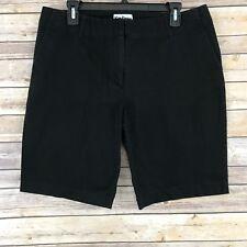 "Kim Parrish Womens Shorts Cotton Stretch Bermuda Style 10"" Inseam Size 14 A4"
