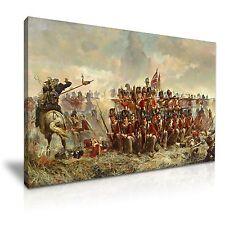 The 28th Regiment at Quatre Bras Elizabeth Thompson Canvas Wall Art 76x50cm
