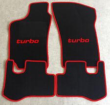 Autoteppich Fußmatten für Fiat Coupe 16V 20V + Turbo 1994'-00' schwarz rot Neu