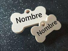Placa chapa de identificación personalizada para collar perro gato mascota