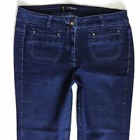 Ladies Kaleidoscope Dark Blue Flared Jeans Size 10 W28 L30 (594)