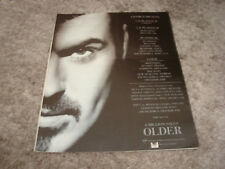 """GEORGE MICHAEL of WHAM! 1996 promo ad for hit """"Older"""""""