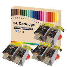 6 Ink Kodak 30 XL Black & Colour Replace for ESP C110 C310 C315 Printer