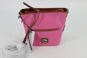 Dooney & Bourke Wayfarer Nylon Mini Hobo Crossbody Bag Purse Pink