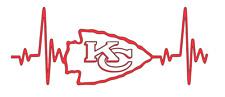 Kansas City Chiefs NFL Football Heartbeat Car/Laptop/Cup Sticker Decal