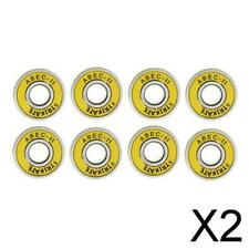 New listing 2X 8 Pack ABEC 11 Skateboard Bearing for Longboard/Inline/Hockey/Roller Yellow
