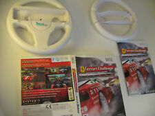 Wii FERRARI Challenge RACING Game - Case & 2 x Steering Wheels Nintendo