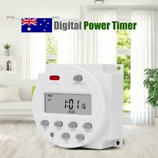 DC 12V Smart Digital LCD Power Programmable Timer Time Switch Relay White AU
