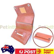 Leather Pouch Bag Case Filter Rolling Pipe Paper Holder Double Fold Brown
