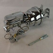 1958-1964 Chevrolet chrome power brake booster master cylinder disc drum valve