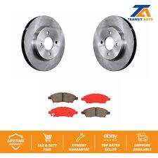 Front Brake Disc Rotor And SIM Semi-Metallic Pad Kit For Nissan Versa Note Micra