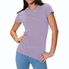 Womens T-shirt Junior's Fit Tee Shirts Crew Neck Short sleeve Top Plain Colors
