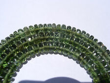 83.9 carats checkered cut beads 5x2mm MOLDAVITE necklace 18 inches $500+ retail
