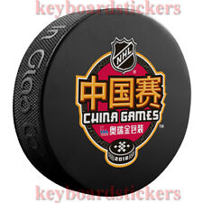 2018 NHL China Games Souvenir Hockey Puck Boston Bruins vs Calgary Flames - NEW