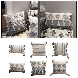 Woven Tufted Cushion Cover Modern Throw Pillow Covers for Sofa Bed Couch