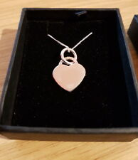 Personalised Engraved Silver Heart Necklace