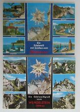 2x Edelweiß Gruss-Karten aus Bayern (Wendelstein) und vom Bodensee, ungelaufen